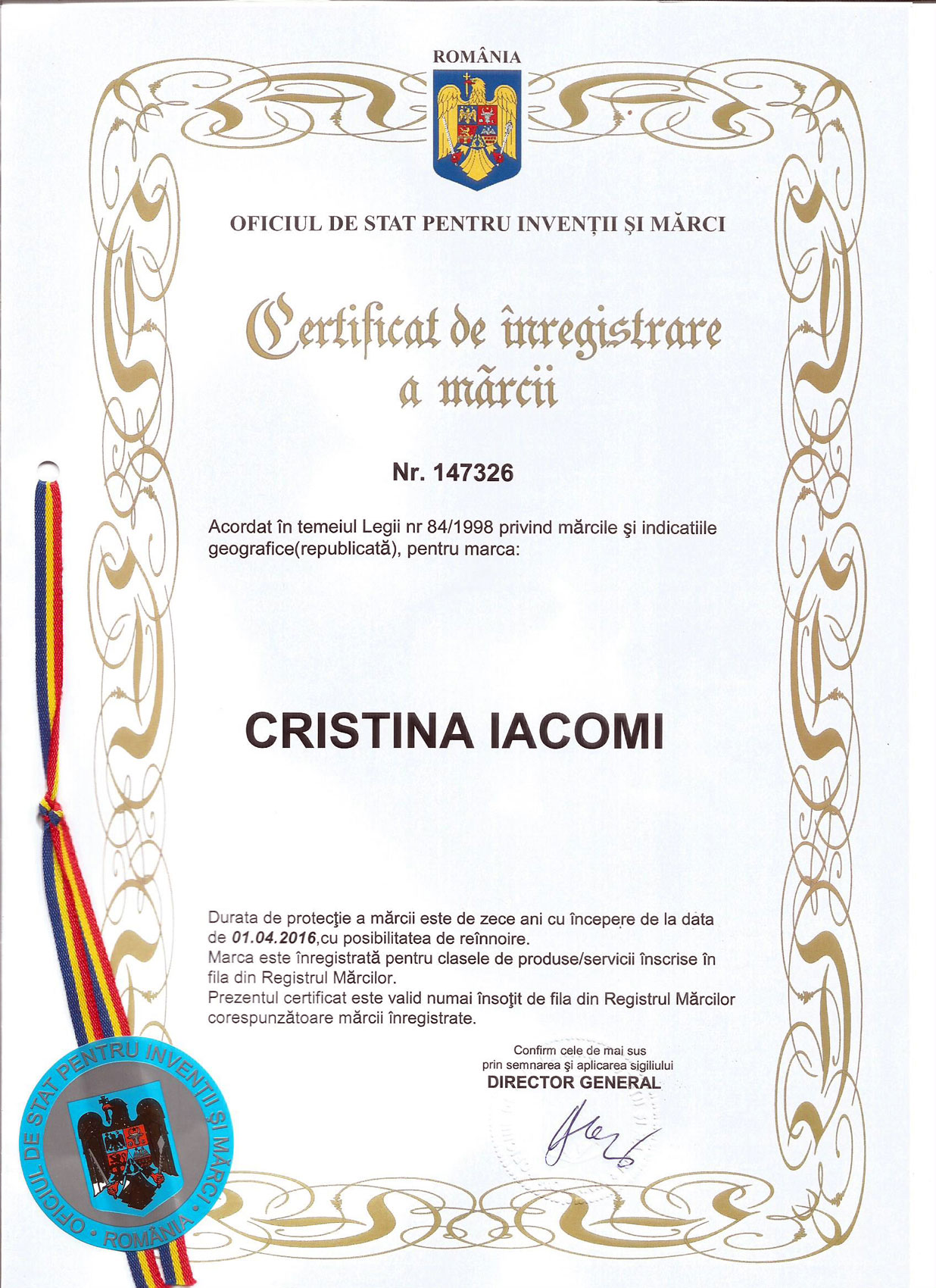 Ambra Design - Certificare 2