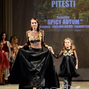 Rochie negru-auriu – Copii
