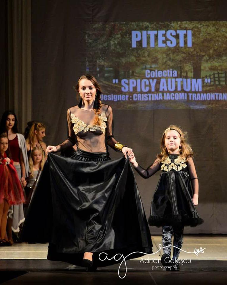 Spicy Autumn - Rochie negru-auriu
