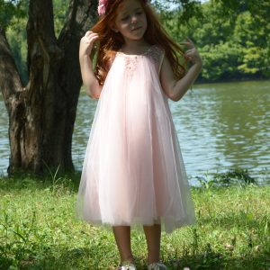 Rochie roz dantela